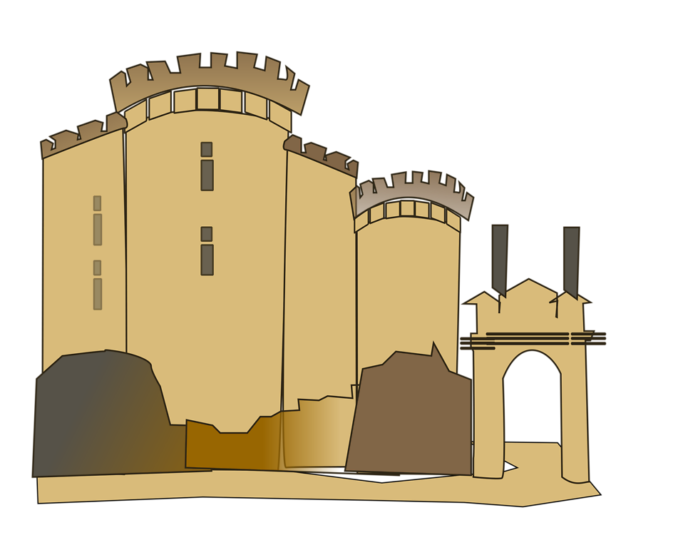 Free stock photo illustration. Clipart castle transparent background