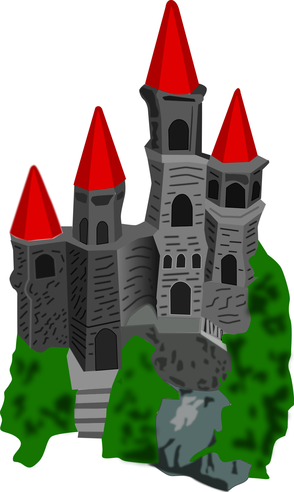Clipart castle transparent background. Free stock photo illustration
