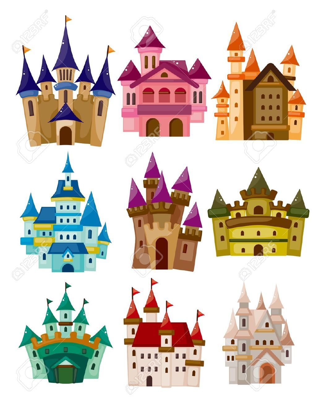 Stock girls room decorations. Clipart castle vector