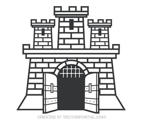 Clipart castle vector. Clip art image free