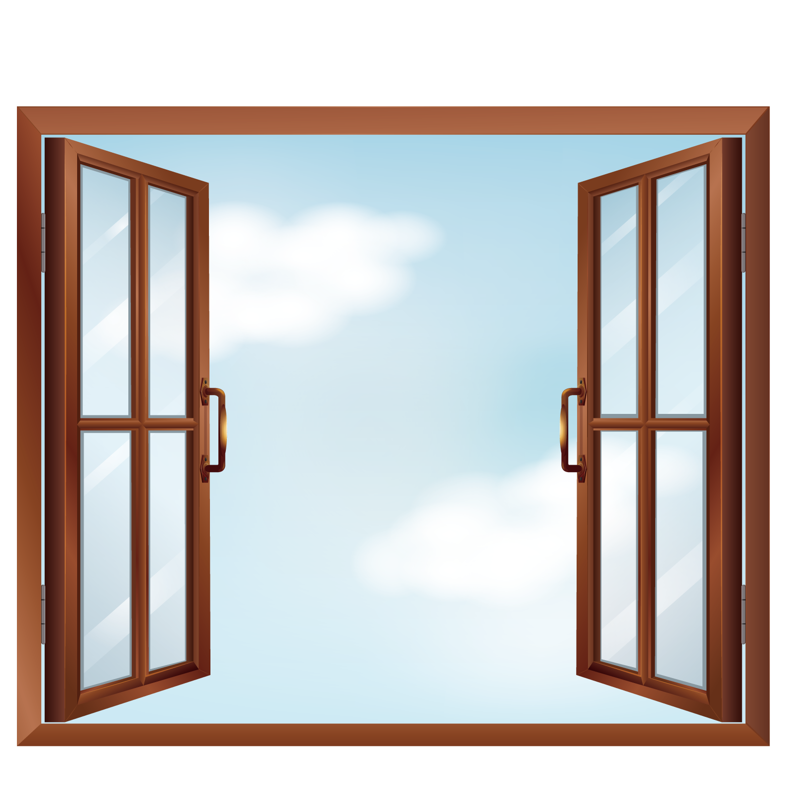 Clipart castle windows. Window clip art vector