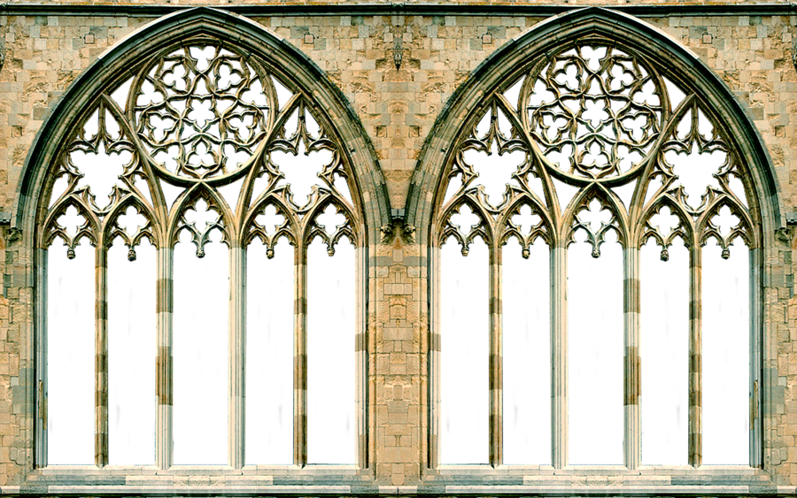 Gothic window arches by. Clipart castle windows