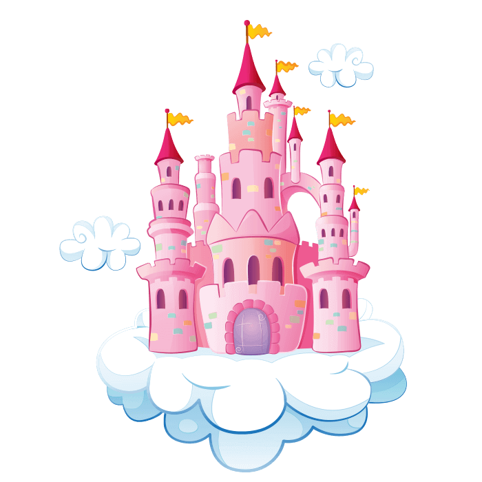 Clipart castle wizard. Wizards and princesses wall