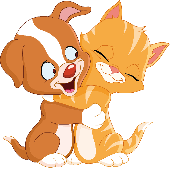 Pet clipart friend. Dog cat and cartoon