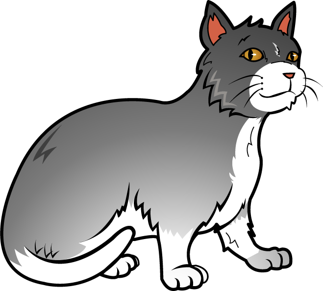Free art clip of. Kitten clipart house cat