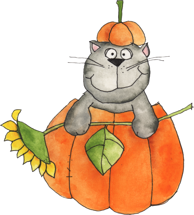 Welcome cat and clip. Clipart fall autumn clothing