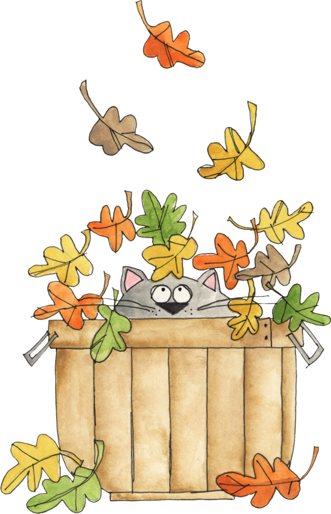 Welcome and album ch. Autumn clipart cat