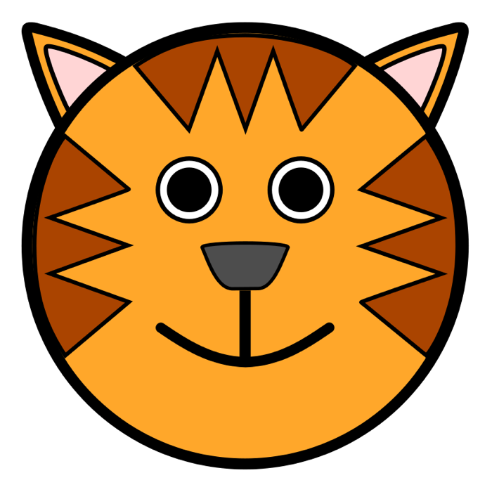 Hamster clipart easy. Tiger face