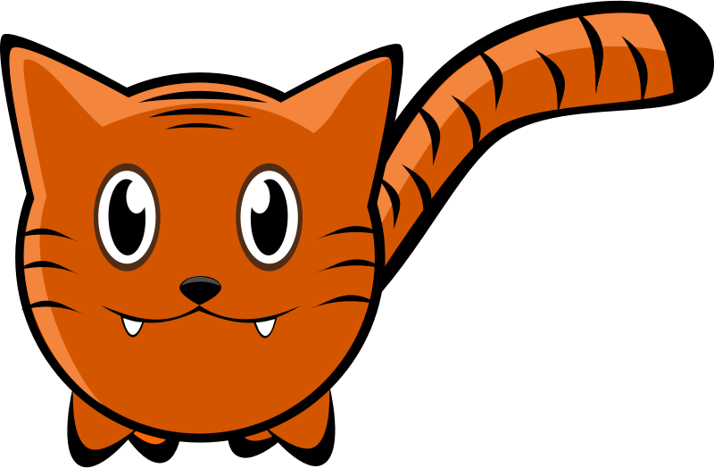 Free ginger page of. Clipart cat basket