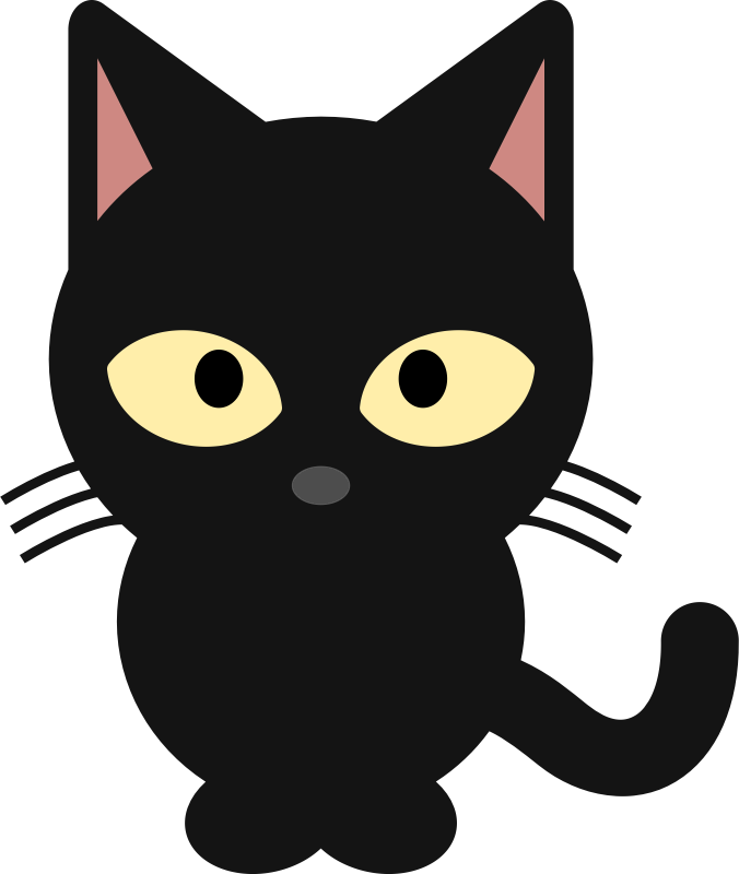 collection of cute. Clipart cat bat
