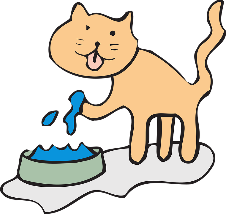 Clipart cat bath. Feline idiopathic cystitis town