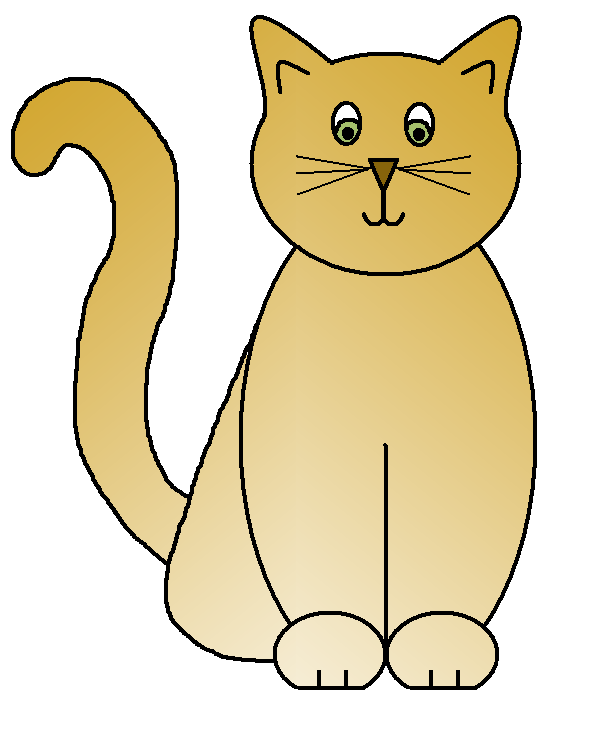 collection of fat. Cat clipart