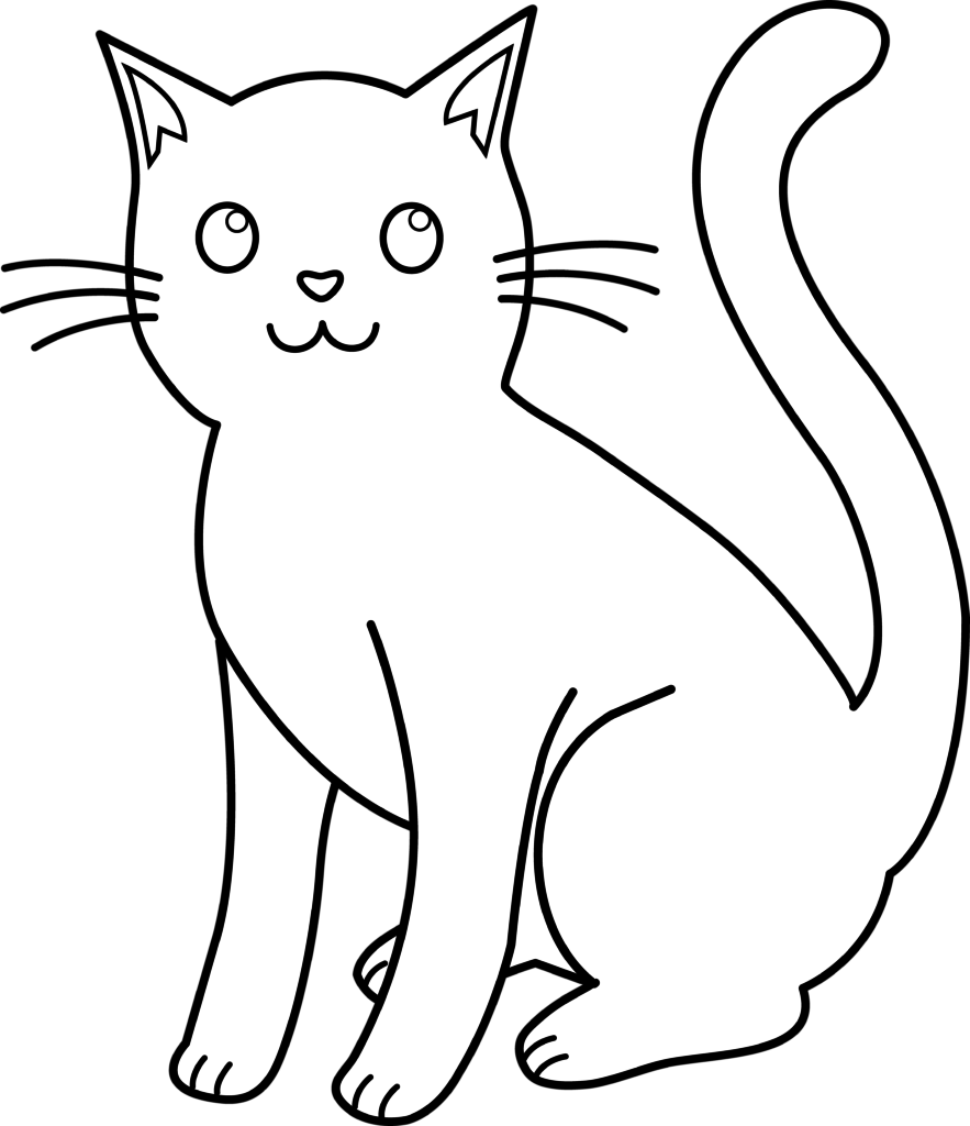 collection of black. Coloring clipart cat