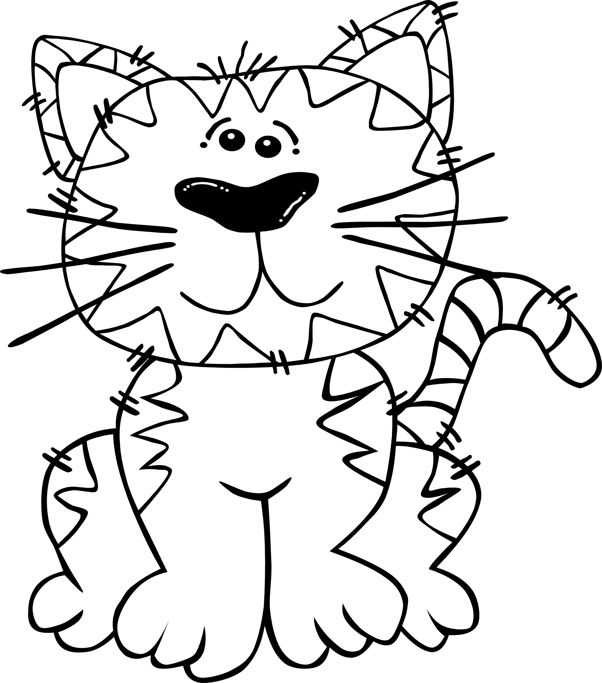 Clipart cat black and white. Dog clip art panda