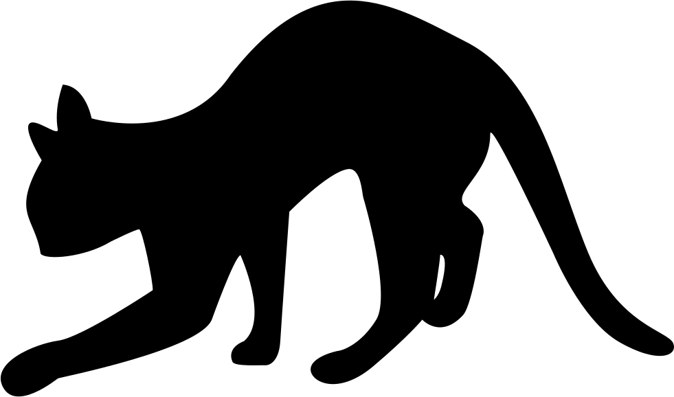Silhouette of cat at. Kitty clipart black panther