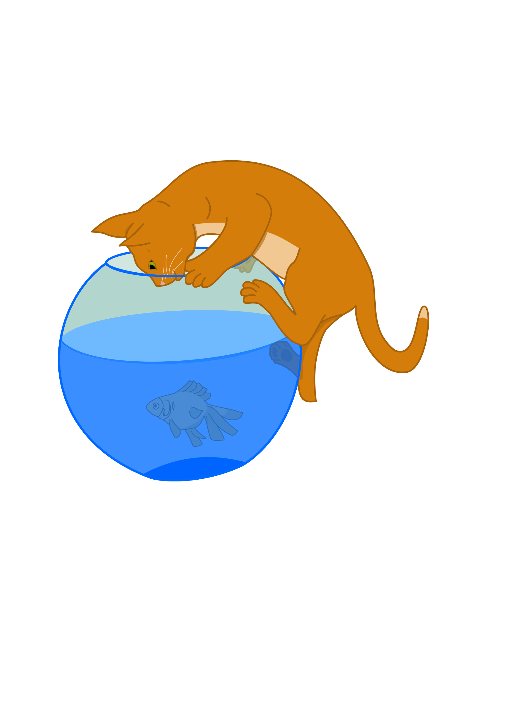 And fish big image. Kitten clipart cat toy