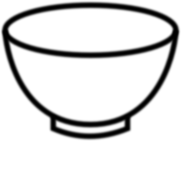 Plate clipart bowl. Outline printable empty black