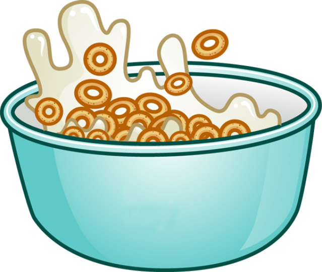 Cheerios pencil and in. Dishes clipart milk bowl
