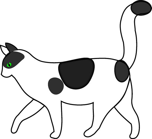 Baby silhouette cartoon dog. Clipart cat boy