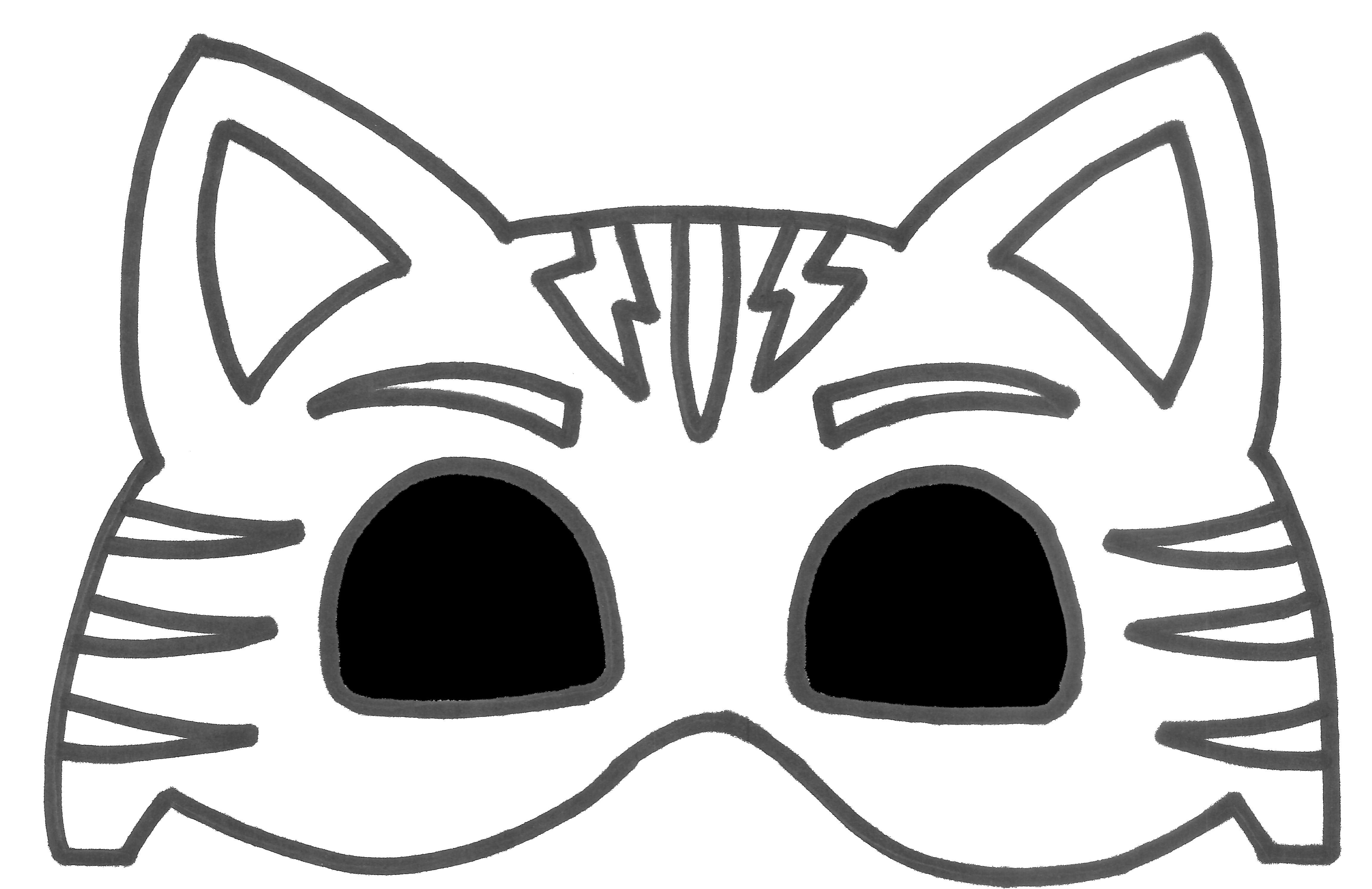 Printable catboy mask with. Clipart cat boy