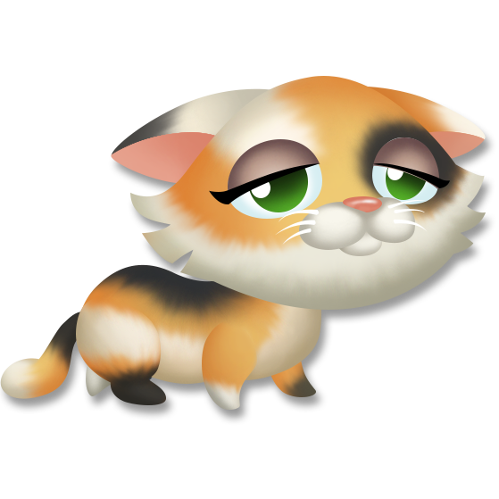 Image kitten tired png. Kittens clipart calico
