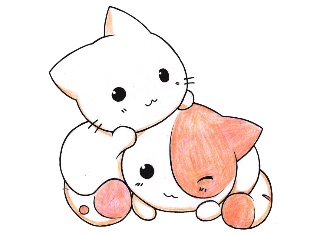 Kawaii clipart kitten. Kittens pencil and in