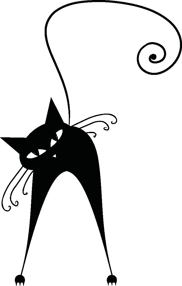 Autocollant pin accueil mur. Clipart milk cat