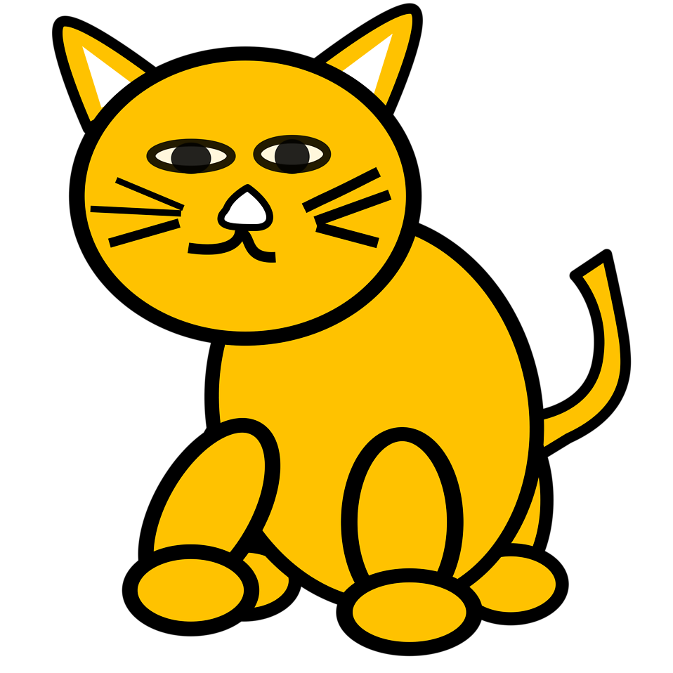Free stock photo illustration. Clipart cat clear background