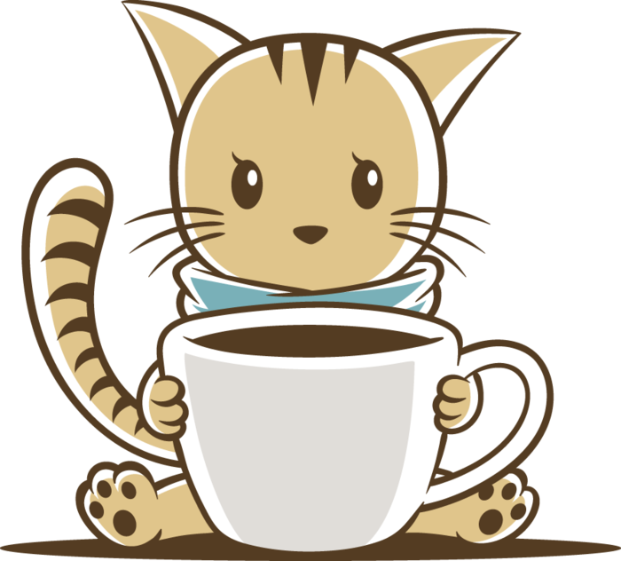 Drinking famous in a. Clipart cat coffee