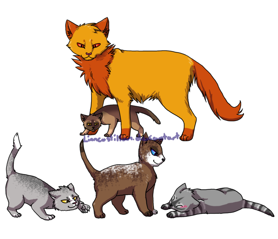 Warrior clipart male. Adopted cats by drekalder