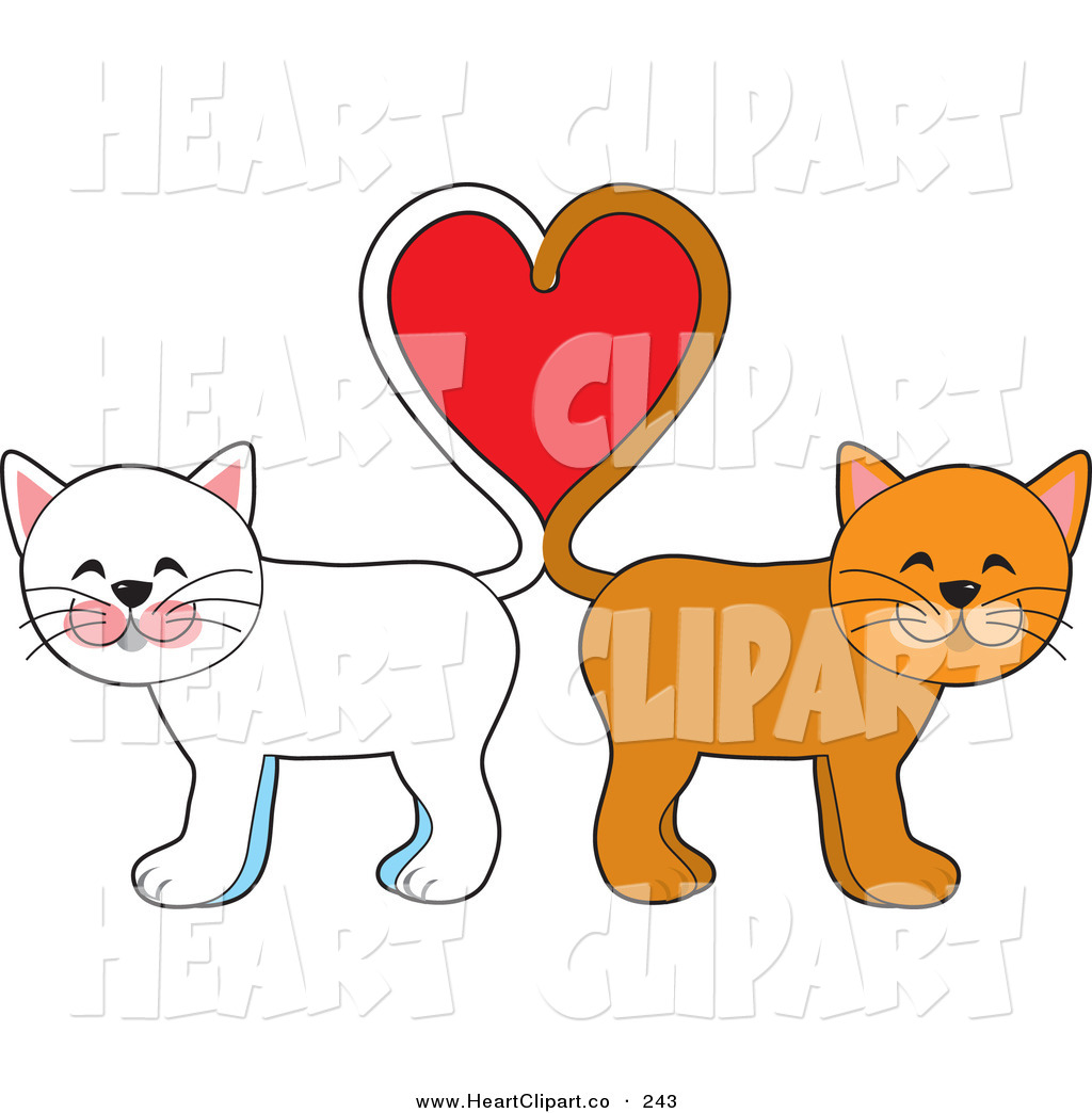 Clip art of a. Clipart cat couple