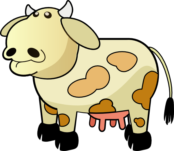Cow clipart colored. Color clip art at