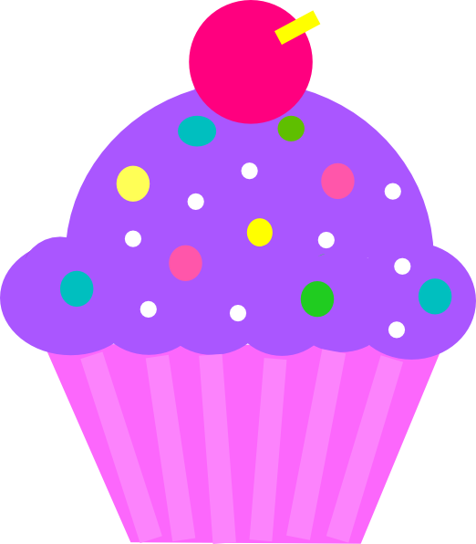 Purple clipart coral. Cupcake and pink clip