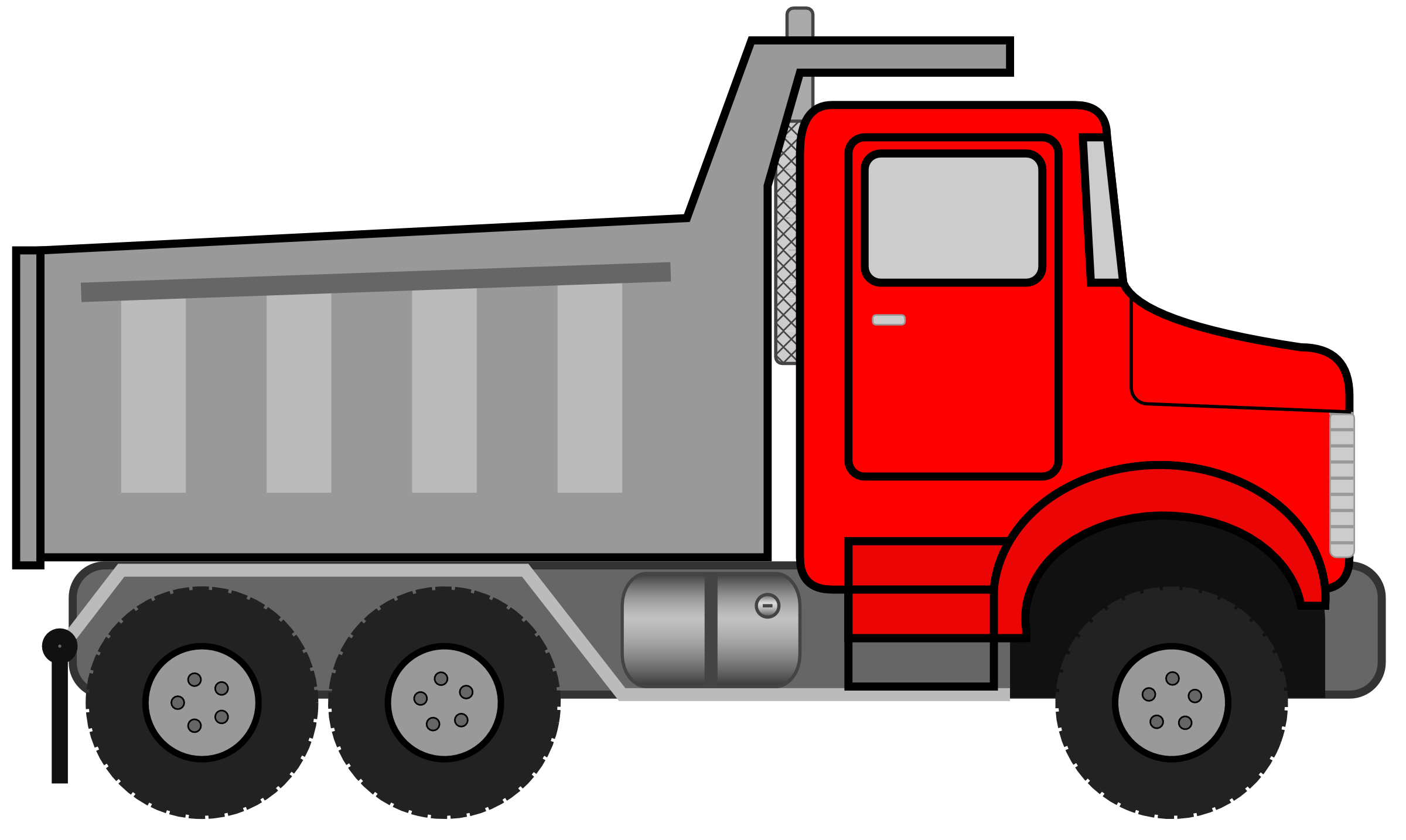 Red pencil and in. Clipart cat dump truck