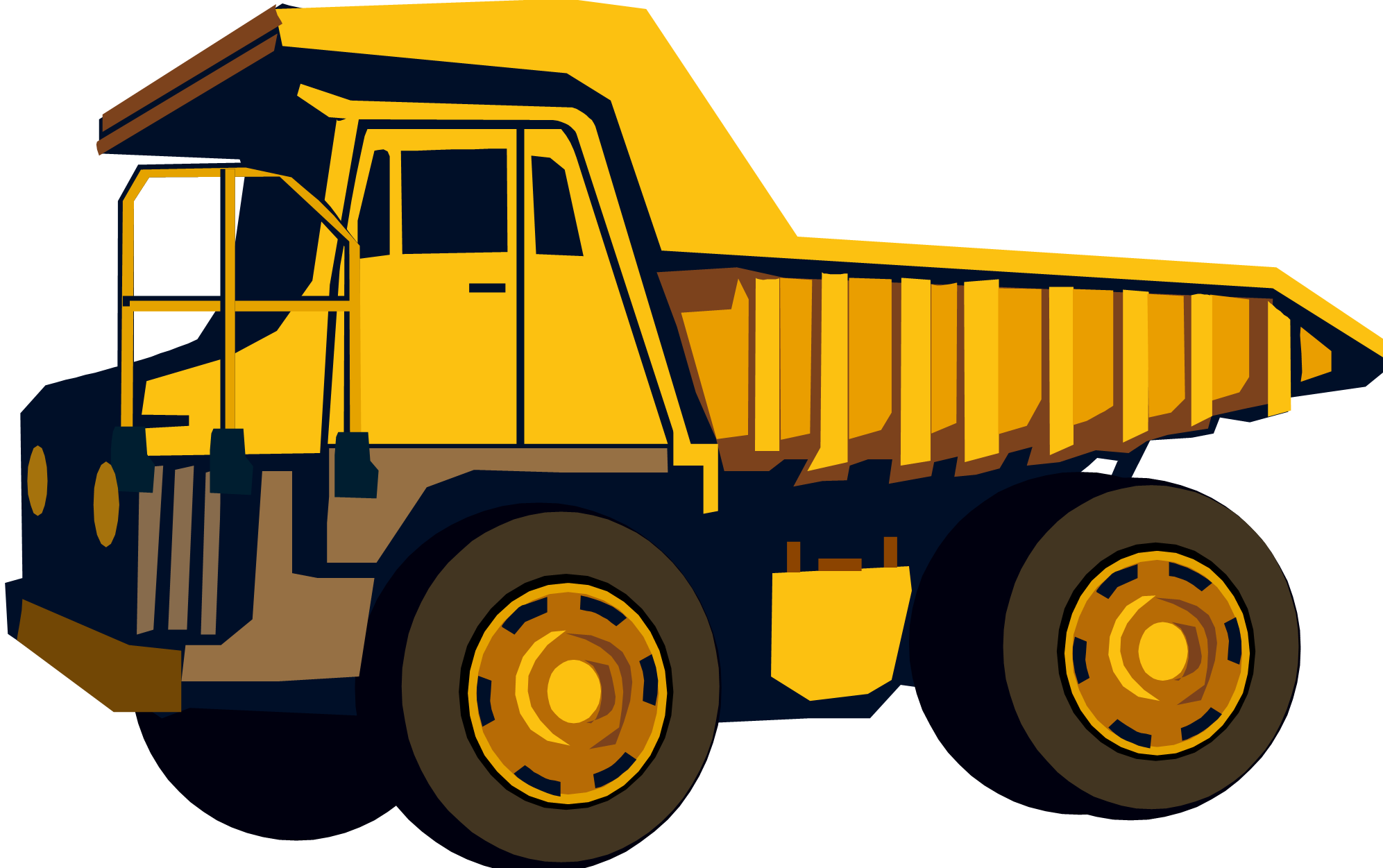 Minivan clipart kid. Excovator construction truck pencil