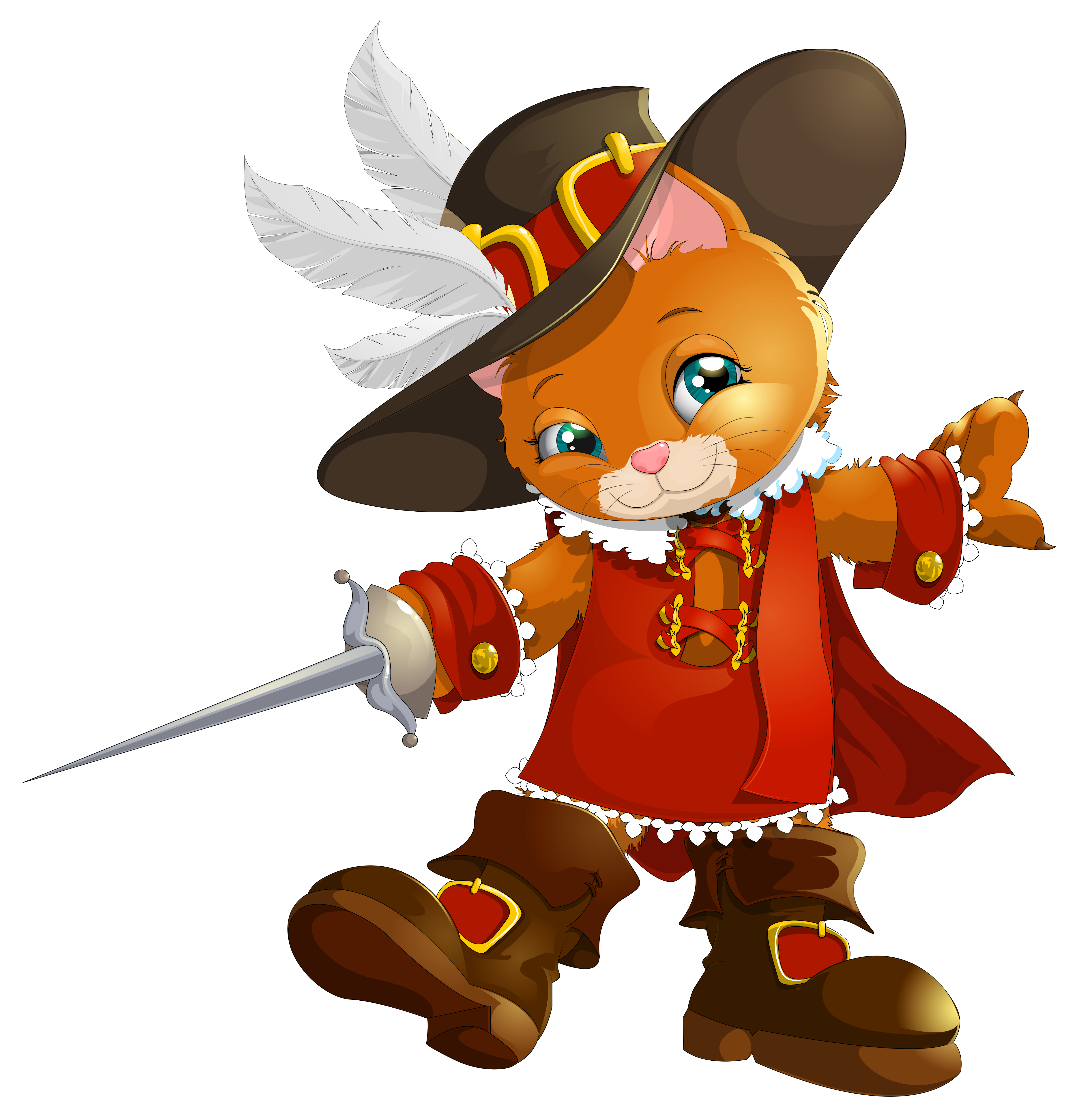 Working clipart animated. The booted cat transparent