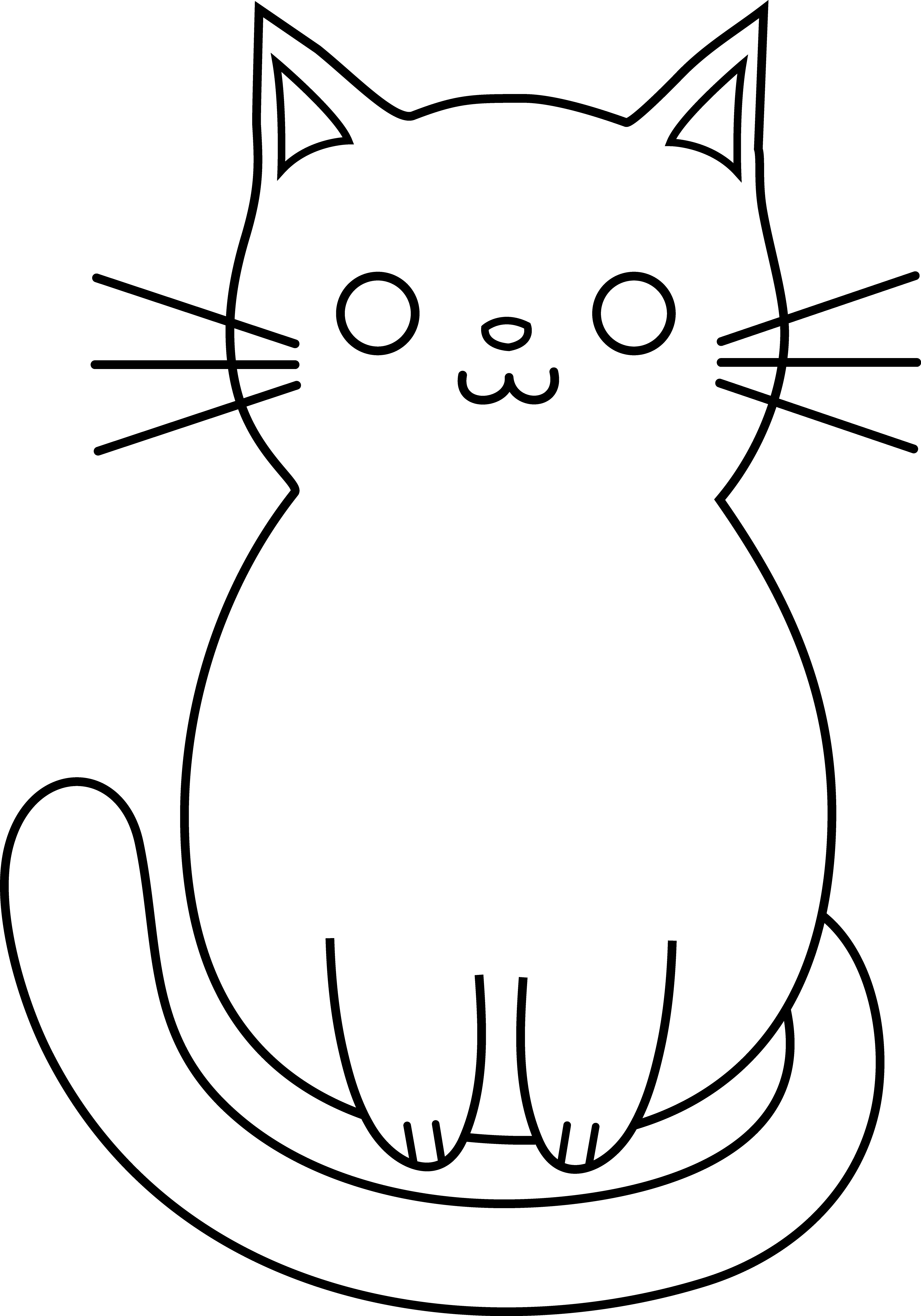collection of simple. Clipart cat easy