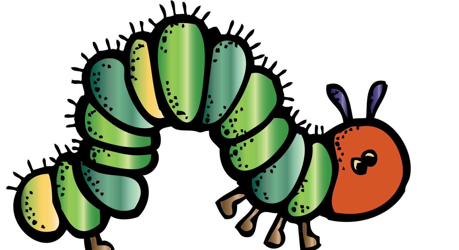 Worm clipart garden. Caterpillar group with items