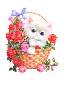 Free cat cliparts download. Kittens clipart flower