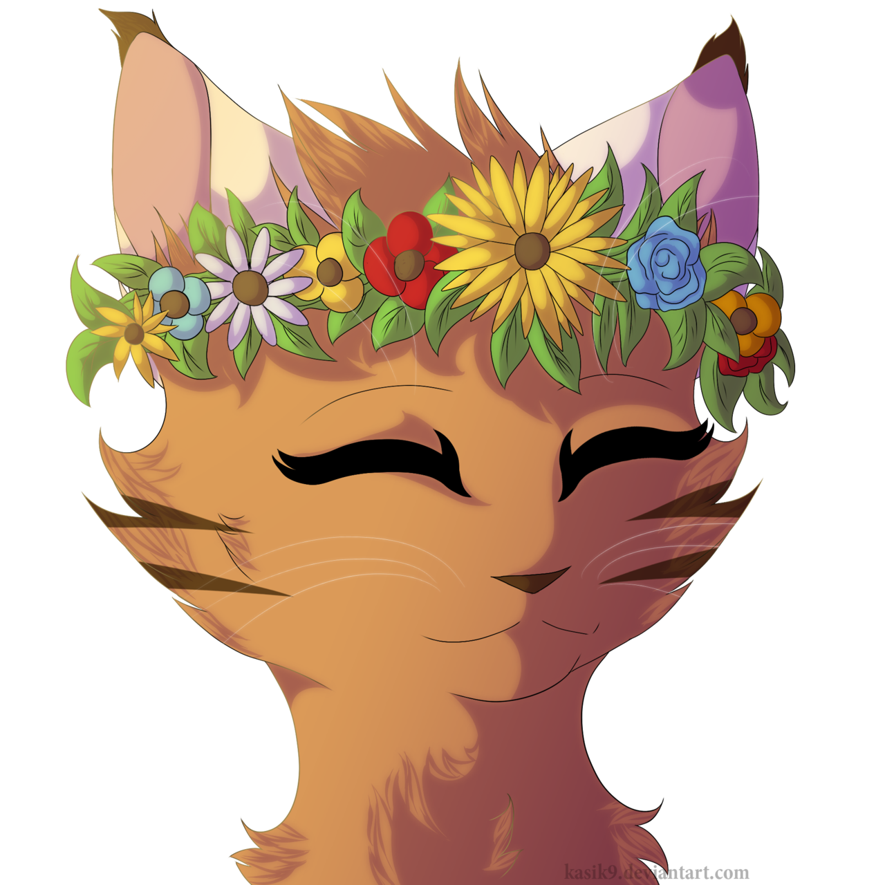 collection of with. Clipart flowers cat
