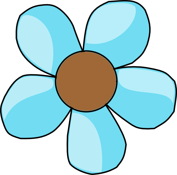 Flowers clipart cute. Blue flower esfiro cat