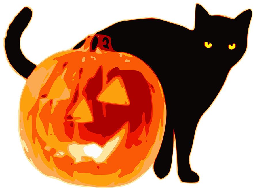 Clipart cat halloween.  collection of scary