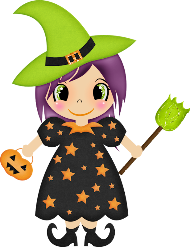 Witch clipart animated. Halloween clip art brujas