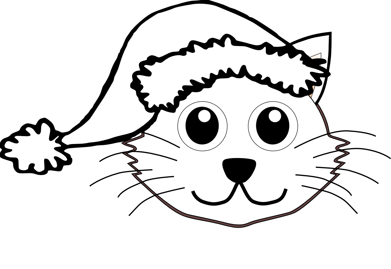 Cat hat pages print. Lock clipart coloring page