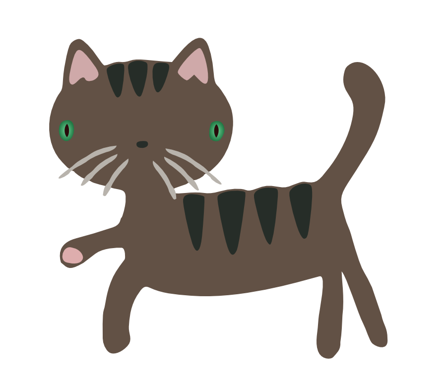 Kitten clipart striped cat. Free gray page of