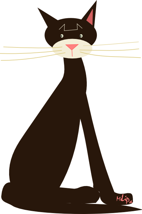 Clipart cat illustration. Free scrap png graphic