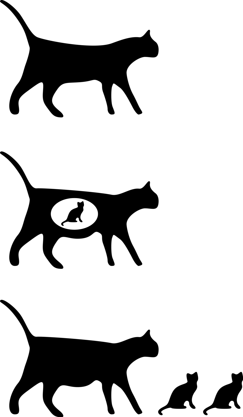 Clipart cat illustration. Cats free stock photo