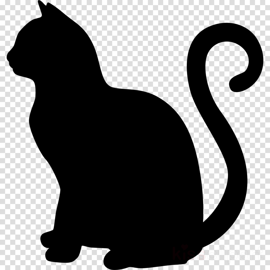 Silhouette design . Clipart cat illustration