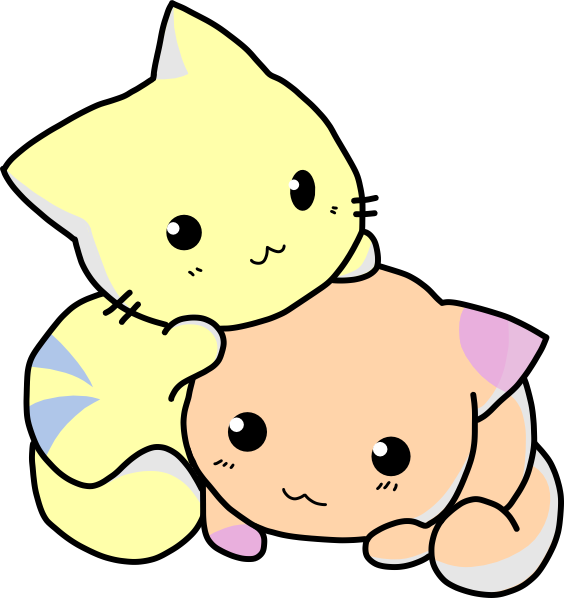 Cute cat pictures clip. Kitty clipart cartoon