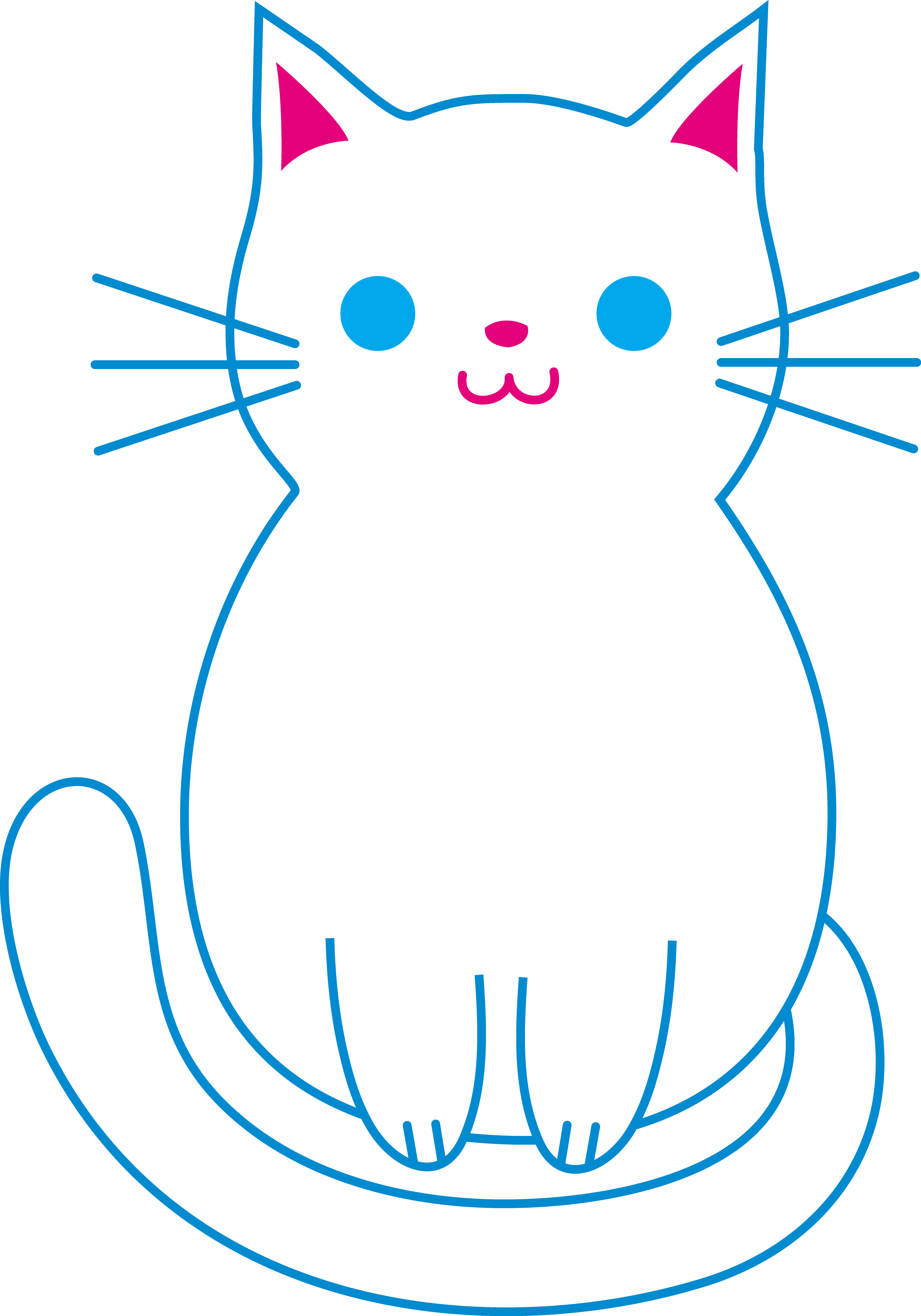 Paws clipart kitty. Cute white cat free